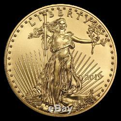 (lot Of 4) Ch/gem Bu 2019 1/4 Oz. $10 American Eagle Gold United States Coin