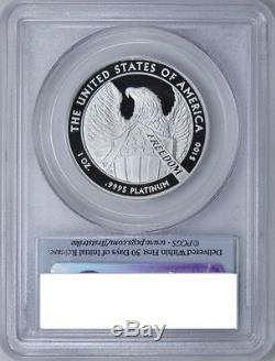 100 $ 2007 Platine Eagle Pcgs Pr70dcam Menthe Première Monnaie