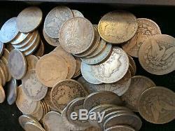100 Pièces 5 Rolls 1 Cull 1978-1904 $ Morgan Us Silver Dollars Aigle 90% En Vrac Lot