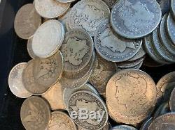10 Coins 1 $ Us Cull 1878-1904 Morgan Argent Dollars Aigle 90% En Vrac Lot 1/2 Rouleau