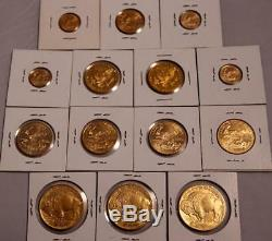 14 Pièces En Or De Monnaie Us 6,65 Oz - Buffalo, Olympique, Or Eagles 1,1 / 2,1 / 4,10