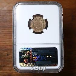 1857 Flying Eagle 1c Ngc Certifié Ms63 Pièce De Monnaie Monnaie Américaine Petit Dollar 63
