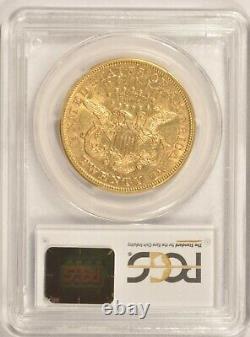 1873-s Open 3 $20 Or Double Eagle Coin Pcgs Au53 San Francisco Mint