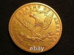1881 $10 Gold Eagle Liberty Ten D. Pièce Pur Lustre Fin Dollar Rond Belle Menthe