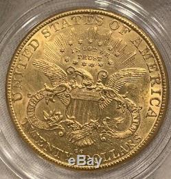 1890 CC 20 $ Carson City Liberté D'or Double Eagle Coin Au / Bu Détails Us Mint