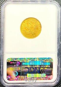 1890-cc La Moitié Américaine Gold Eagle $ 5 Liberté Head Ms62 Ngc Mint Carson City Coin