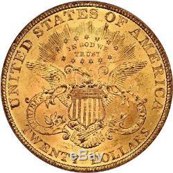 1893 Pièce D'or De 20 Pièces Pcgs Ms63 Liberty Double Eagle Liberty Meilleure Menthe