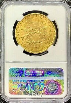 1894 $ 20 Liberté Tête D'or Américain Double Eagle Ms61 Ngc Lustrous Mint Coin