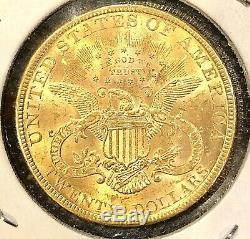 1894 Pièce De Monnaie Américaine Avec Un Double Aigle Or Us 1894 $ 20 Twenty Dollars Mint Bu