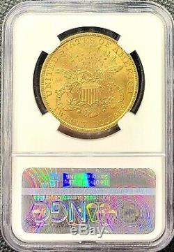 1895 $ 20 Chambres Doubles American Gold Aigle Liberté Tête Ms61 Ngc Lustrous Mint Coin