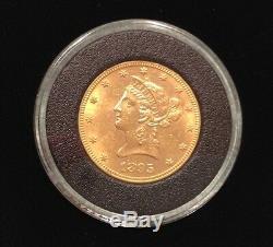 1895 Pièce D'or De 10 Dollars Eagle Non Circulée, Menthe New-yorkaise