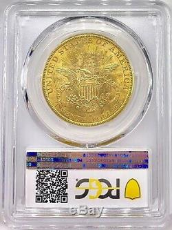 1895-s 20 $ Liberté Head American Gold Double Eagle Ms61 Pcgs Brillante Mint Coin