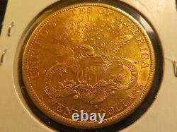1897 S 20 B. U. Gold Double Eagle Twenty Dollar Liberty Pièce Fine Lustre Menthe