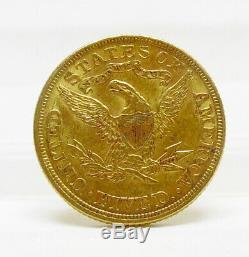 1898 P Us Mint $ 5 Dollar Liberty Head Half Eagle Gold Coin Unc Livraison Gratuite