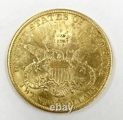 1898 S Us Mint Liberty Head 20 $ Double Eagle Gold Coin Unc Free Ship