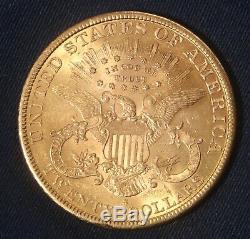 1898-s 20 $ Double Eagle Coin Liberté Lot 050851