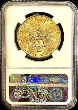1899 $ 20 Golds Américain Double Eagle Ms63 Ngc Liberté Rare Date De Clé Coin Mint