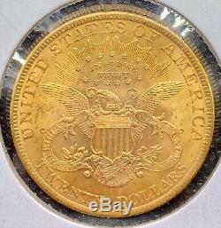 1900 $ 20 Golds Américain Double Eagle Liberté Head Ua / Ms Lustrous Mint Coin