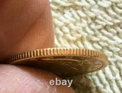 1901 P. 5 $ Liberty Head Half Eagle Gold Five Dollar Coin 615 900 Minted. Cnu