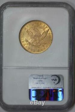 1901 Pièce De Monnaie Américaine Monnaie Ms61 Ngc Avec Tête Eagle Liberty, 10 $ 1901