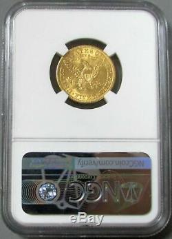 1904 Or $ 5 Liberté Head Half Eagle Coin Ngc Mint État 62