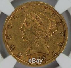 1905-s Ngc Pièce De 35 Dollars Us Liberté Or Avec Demi-aigle Eagle Xf40 Meilleure Date / Neuve