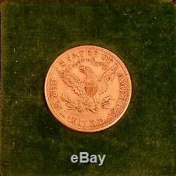 1906 D Or Us $ 5 Dollar Tête Liberty Demi Eagle Pièce Denver Menthe