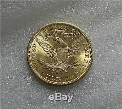1906-d USA 10 Dollars Gold Eagle Dollar Dollar Superbe État Neuf ++++