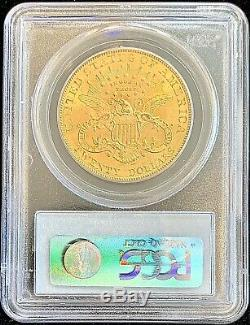 1907 $ 20 Golds Double American Eagle Ms62 Pcgs Liberté Head Brillant Mint Coin