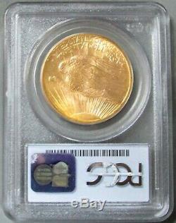 1907 Gold USA Saint Gaudens $ 20 Pièce De Monnaie Double Aigle En Bon État 63