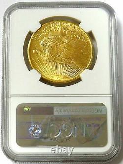 1907 Or 20 $ Saint Gaudens Double Eagle Pièce Ngc État De La Monnaie 63