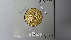 1909-d $ 5 Demi-eagle Indien D'or Xf / Au Pièce D'or Avant 1933 À La Menthe Denver