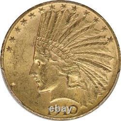 1910-d Pcgs 10 $ Gold Eagle Indian Ms62 Mint État Pré-33 Pièce De Monnaie Américaine 2161