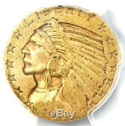 1911-s Or Half Eagle Indian 5 $ Coin Certifié Pcgs Vf35 Rare S Monnaie
