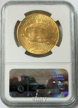 1914 D Or 20 $ Saint Gaudens Double Eagle Coin Ngc État De La Monnaie 63