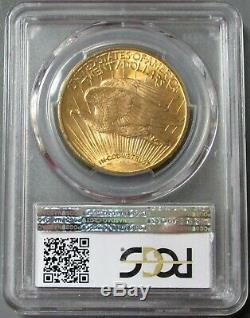 1915 S Or $ 20 Saint Gaudens Double Eagle Coin Gpc Mint Etat 65+ Cac