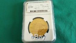 1924 $ 20 Golds Double American Eagle Saint Gaudens Ms 64 Ngc Certifié Monnaie Pièce