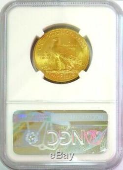 1932 Or États-unis $ 10 Dollar Indian Head Eagle Coin Pièce De Monnaie Ngc Mint 63