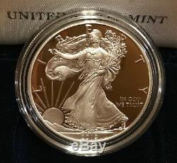1986-2019 Américaine Silver Eagle Proof Lot De 34 Pièces Dans Les Boîtes Us Mint Avec Coas