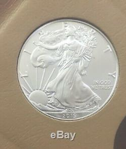 1986 2019 American Eagle Silver Dollar Ensemble Complet Des Pièces Mint Gem