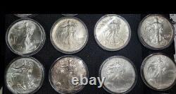 1986-2021 American Silver Eagle Coin Full Set Lot Collection 1oz 99,9% Silver Bu