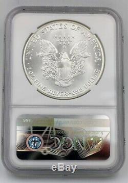 1986 Ngc Ms70 $ 1 Mint État Argent American Eagle 1 Oz. 999 Première Année D'émission Ase