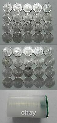 1986 Orig Gem Bu Mint Roll First Year 1oz Silver American Eagles #2