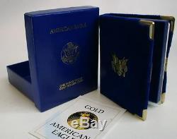 1986 Us Mint 1 Oz American Eagle Proof Gold Bullion 50 $ Coin