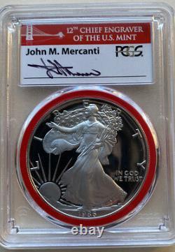 1986-s Pcgs Pr70dcam American Silver Eagle Mint Engraver Series. Très Rare