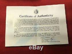 1986w 50 $ 1 Once Proof Américaine Gold Eagle Originalement Mint Emballage