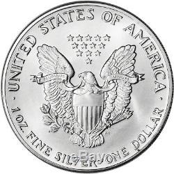 1987 American Silver Eagle (1 Oz) 1 $ 1 Rouleau Vingt Pièces De 20 Bu En Bon État