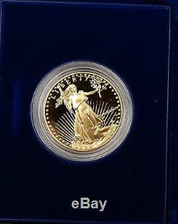 1987 Pièce De Preuve En Or American Eagle De 50 Usd À 50 $ Dans Sa Boîte Originale À La Menthe Américaine Avec Certificat D'authenticité