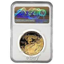 1987 W 50 Oz $ 1 Proof Gold Eagle Américain Ngc Pf 69 Erreur Monnaie (avers Struck Thru)