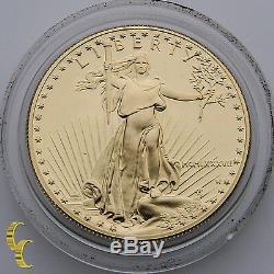 1987-w 1 Oz. American Eagle Proof - Boîte À Menthe Et Étui En Velours
